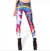 Wholesale EAST KNITTING BL Hell Yeah Leggings fashion new women Digital Print Galaxy Pants