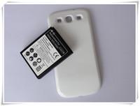 achat en gros de prolongée boîtier de la batterie de galaxie-100pcs / lot 4300mAh batterie étendue de téléphone portable avec le cas de couverture pour la galaxie S S3 I9300 OEM OEM regraissable de piles Fourniture directe
