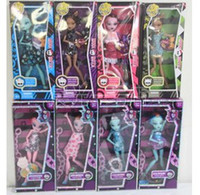 Wholesale Hot New Retail Monster High Fashion Dolls set monster Action Figure doll toy