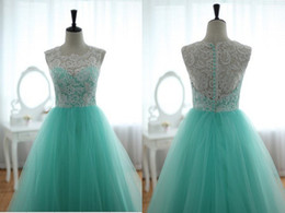 Wholesale Real Sample A line Party Dress Prom Dresses Applique Covered Button Organza Party Dresses Floor Length