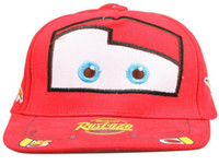 Wholesale Brand New lighting mcqueen boy cotton cartoon cars cap hat children hats with Adjustable Belt on the back