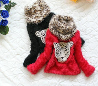 Spring / Autumn sequin scarves - Girl s Tiger Sequins Thick Plain Color Sweaters With Leopard Scarf Sets