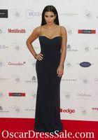 Cheap kim kardashian dress spaghetti sweetheart Sweetheart Sleeveless chiffon black celebrity evening dresses