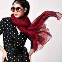 Wholesale WILD RHINO America fashion women large size cm Pashmina scarf multicolor Slightly wrinkled silk scarves shawl