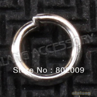 Jump Rings & Split Rings jump rings - 4500pcs Hotselling Jump Rings Split Rings Plated Silvery Jewelry Findings mm For Jewelry Findings Making