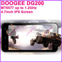 Wholesale DOOGEE DG200 HotWind Unlocked Smart Phones MTK6577 Dual Core GHz MB G inch IPS Screen Camera MP Android GPS wifi Free DHL