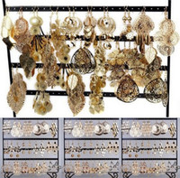 Wholesale Earring Jewelry pairs Bulk Jewellery Gold P Dangle Earrings Charm Eardrops Fashion Hollow out Jewelry E149G