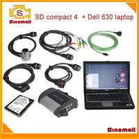 Wholesale Hot sales SD compact SD connect C4 MB STAR C4 for Benz diagnostic scanner for MB Star Diagnosis with DELL laptop