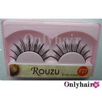 Wholesale 10 Pairs set Can Mix Style False Eyelashes Semi hand Made Human Eyelashes