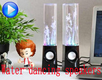 Audio Player, Mobile Phone, Computer  active dance music - Dancing Water Speaker Active Portable Mini USB LED Light Music Audio MM Player Speakers For PC MP3 MP4 PSP Free by DHL