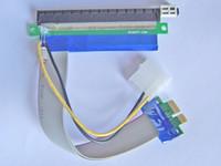bitcoin - Fee Shipping cm For Bitcoin mining Flexible PCI E PCI Express cable X1 TO X16 Riser Card Extender With Molex Power Jack