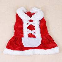 Nouveau design des vêtements de chien mignon de Noël Fille de Santa chiffon robe de l'hiver au chaud animal petit chat de chien moyen Chihuahua Yorkshire Caniche