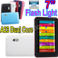 Wholesale 7 Inch Allwinner A23 Dual Core Android Tablet PC With FlashLight EKEN A70H Ghz Dual Camera M GB USB Port Webcam Wifi Cortex A7