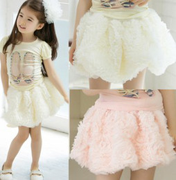 Wholesale Baby Lace Pettiskirt Tutu Skirt Girls Rose Flower Skirts Children Princess Skirts Kids Dance Party Dress Child Ballet Skirts