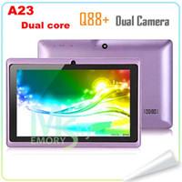 """Promoción de Doble Núcleo Q88 7"""" Allwinner A23 Q8H de Doble Cámara de Android 4.2 Tablet PC P8 Con WiFi 512MB 4GB Tablet Android 10pcs DHL"""