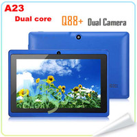 7 inch tablet jelly bean - HOT SALE A23 Dual Core Q88 quot Allwinner Q8H Dual Camera Android jelly bean Tablet PC Q8 With WiFi MB GB high quality