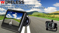 car rearview camera - 7 inch TFT LCD Monitor GHz Wireless Car Rear View Camera System Weather proof Night Vision Rearview IR Camera Brand New H1613