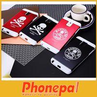 For Apple iPhone Metal For Christmas Hybrid Skull Skeleton Metal Plastic phoen case cover for Samsung Note3 N9002 credit card case cover