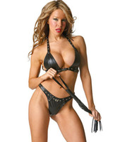Wholesale Sexy lingerie charming temptation leather set women s sexy underwear