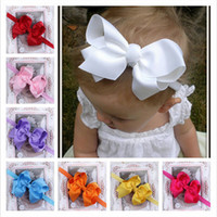 Headbands Cotton Floral Infant Bow Headbands Girl Flower Headband Children Hair Accessories Newborn Bowknot Flower Hairbands Baby Photography Props 12colors 20pcs