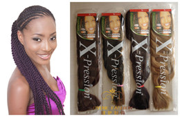 Wholesale Xpression Ultra Braiding Hair inch g pc kinds color
