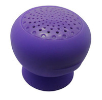 Wholesale DHL Wireless Bluetooth Mini Portable Mushroom Silicone Hands free Speaker with Sucker for iphone ipad
