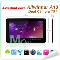 Wholesale Allwinner A23 Dual Core Dual Camera inch T900 N900 Tablet PC Android Ghz Capacitive Screen MB GB Five colors
