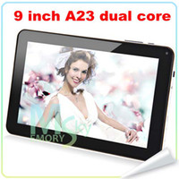 Wholesale Allwinner A23 Dual Camera inch Dual Core T900 N900 Tablet PC Android Ghz Capacitive Screen MB GB Five colors