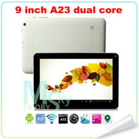 Wholesale Dual Core Allwinner A23 Dual Camera inch T900 N900 Tablet PC Android Ghz Capacitive Screen MB GB Five colors