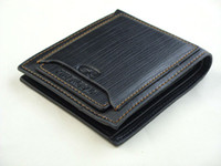 Wholesale Mens Leather Wallet Pockets Card Clutch Cente Bifold Purse Outer Box