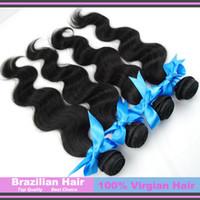 Brazilian Hair Body Wave Human Hair 20% Off DHL Free shipping 100% Human Top Grade Hair weaves Brazilian Virgin Hair Body Wave Hair Extensions 3 Bundles Lot Thick mix length