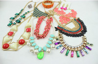 Alloy bib necklace designs - New Fashion Necklaces Bracelets Earrings Rings Chokers Collar bubble bib Pendants Necklace Wristband Charm Jewelry Mixed designs ear cuff