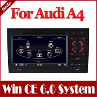 Wholesale Auto Radio Car DVD Player for Audi A4 with GPS Navigation Bluetooth USB AUX RDS SWC TV Map Audio Video Multimedia Navigator Stereo
