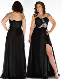 Wholesale 2015 Top Glamorous Beaded Sweetheart Cap Sleeve Plus Size Special Occasion Dresses Floor Length Evening Gown Plus Size Formal Dresses
