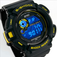 Wholesale SKMEI S Shock Changing Multicolour Flash LED Black Sports mountain climbing Watch M waterproof NEW