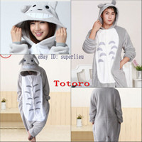 Babydoll babydoll white - Hot Sale Lovely Gray White TOTORO New Kigurumi Pajamas Animal Cosplay Costume Unisex Bridal Undergarments Stock