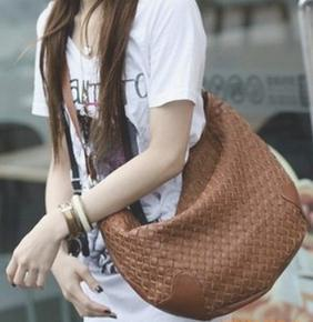 Cheap Hobo Bag Knitted Style Black White Coffee Color Mix 1205B ...