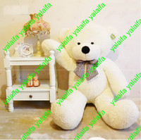Wholesale FOOT TEDDY BEAR STUFFED LIGHT BROWN GIANT JUMBO size cm XIAOXIONG003