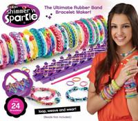 Wholesale Shimmer n Sparkle Rainbow Loom Kit Cra Z Loom Bracelet Maker for with Silicone Rubber DIY color silicone braided bracelet