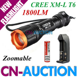 Wholesale UltraFire KC Zoomable Cree XM LT6 LM LED Flashlight Torch V Battery Charger CN CLF12 CN Auction