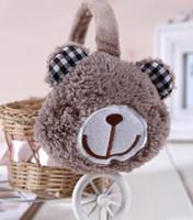 Wholesale Winter Ear Muffs Cute Bear Christmas colors Mix B9
