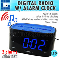 Wholesale T04WT465 Technoline Digital Quartz Alarm Clock AM FM Radio Station H Hour Time Display Sleep Timer V only