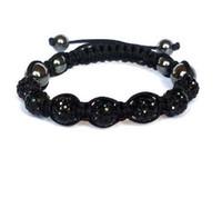 Wholesale mixed shambala bracelets Macrame disco ball pave beads crystal bracelets jewelry armband Shb009 cheap china fashion jewelry