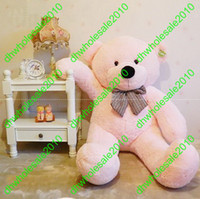 Wholesale FEET TEDDY BEAR STUFFED LIGHT BROWN GIANT JUMBO size cm XIAOXIONG002