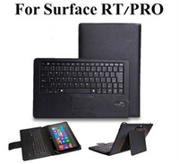 Wholesale Removable Bluetooth Keyboard Case For Microsoft Surface RT Pro Win8 Tablet PC QWERTY Keypad with Built in Touchpad