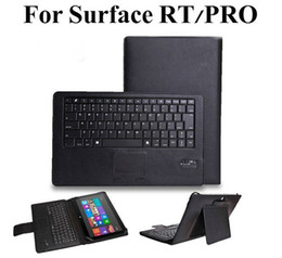 Wholesale Tablet PC Removable Wireless Bluetooth Keyboard Cover Case For Microsoft Surface RT Pro Win8 Tablet PC QWERTY Keypad with Built in Touchpad