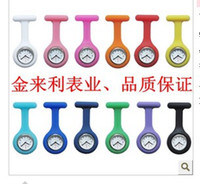 Wholesale 300pcs Silicon Nurse Medical Watch Clip Pocket Watches With Pin colors Doctor Watch DHL