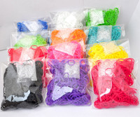 Wholesale DHL SHIP bands mix pack Rainbow Loom bands refill pack s clips DIY twist rubber band packs