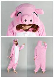 Люкс нижнее белье прекрасный розовый Pig Kigurumi Тема костюма животных Пижама косплей Хэллоуин костюмы для женщин