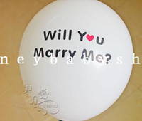Wholesale Korean printing thicker inch balloon marriage room layout Christmas carnival balloon Marry Me